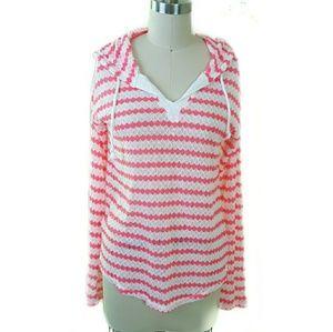 3/$30 // Neon Pink Stripe Long Sleeve Hoodie